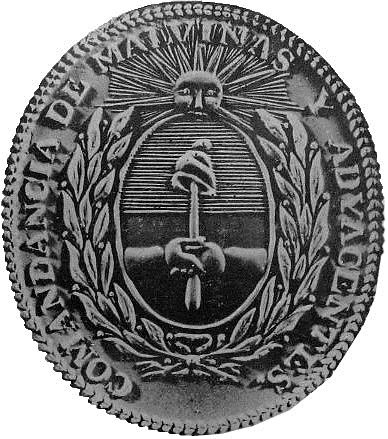 1 Official Seal of the Political and Military Commandment of the Malvinas and Adjacent Islands used by Luís Vernet.